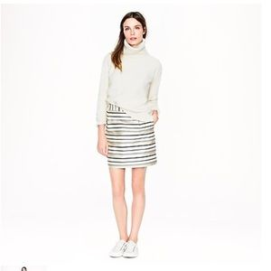 J. Crew • Gold Stripe Mini Skirt
